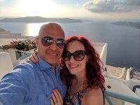 Honeymoon sunset in Santorini!