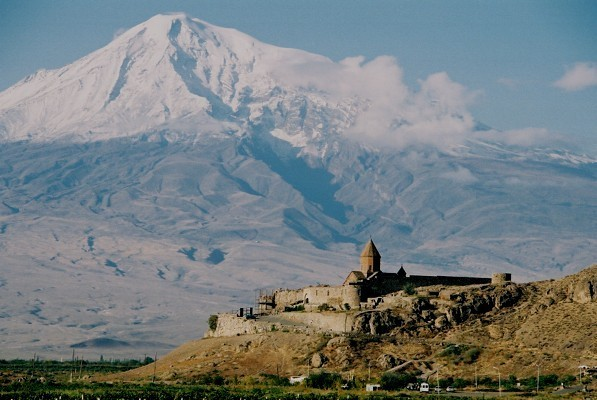 Mt. Ararat with a monastery