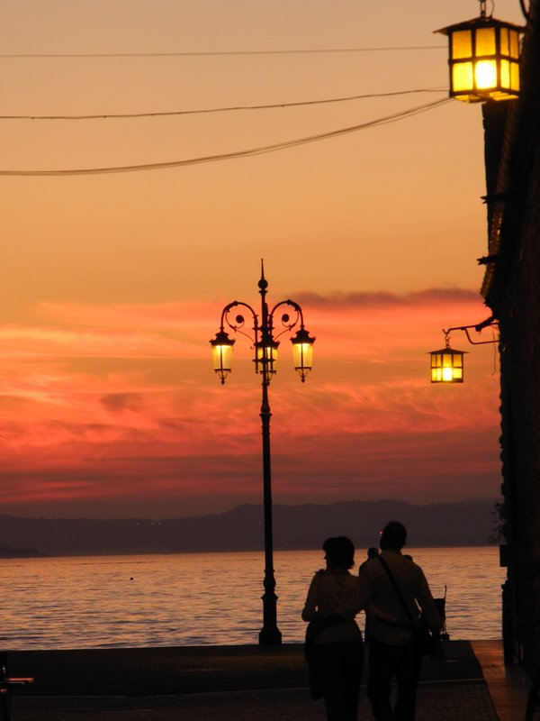 Sunset at Lazise, Lake Garda