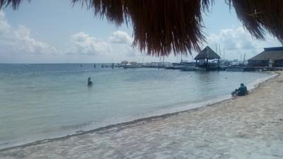 """Cancun's quiet beach"""