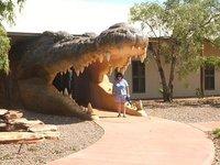 Denise at Malcolm Douglas's Crocodile Farm and wildlife park