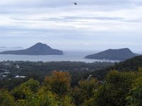The entry to Port Stephens