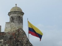 Colombian Flag over Castillo San Felipe
