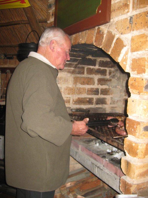 Steve cooking Braai
