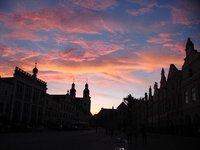 Sunset in Telc