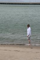 Me dipping my toes in the Ocean...well kinda ocean