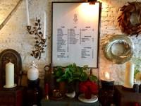Beautiful Floral Cafe Menu