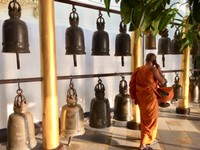 Temple Bells 2019 Monk with Cell Phone