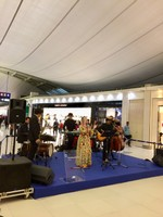 Singer in the Airport Early AM