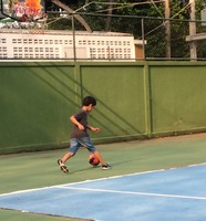 Soccer on the Tennis Court