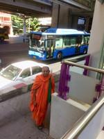 Monk at BTS Station