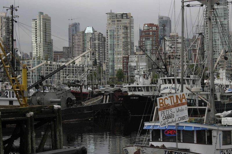 Fishing boats near Granville Island, Vancouver