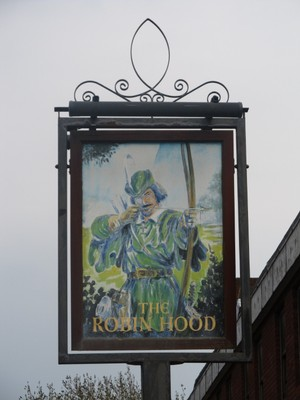 The Robin Hood pub sign