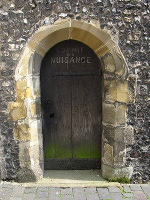 Disused side entrance at the Clock Tower