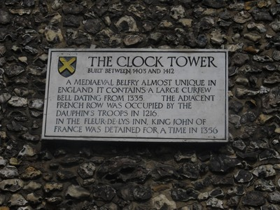 Another sign on the Clock Tower