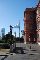Behind the Pink House, Plaza de Mayo
