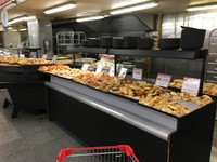 Empanada counter at the supermarket