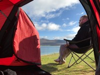 View from our tent this morning