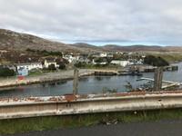 View of Tarbert harbour taken from the car window
