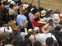 Brass band in the crowd, Rodeo Montubio