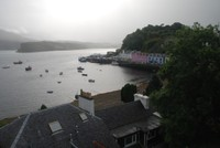 View of Portree and the harbour from above