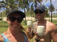 Pina coladas at the beach