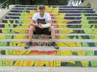 Street art steps