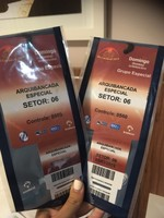 Our tickets to the Sambadrome