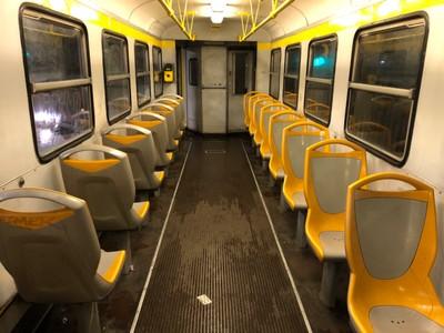 On board the Giardinetti Line train