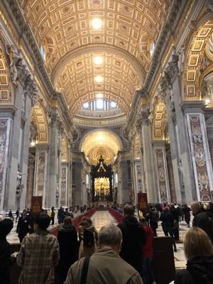 Nave of St Peter's Basilica