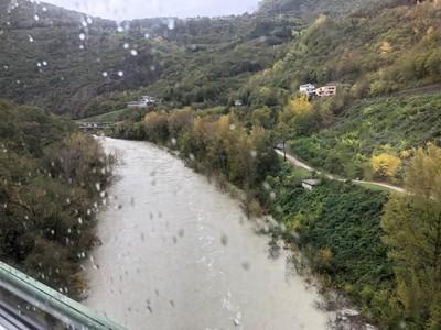 Soča river from the Bohinj Railway