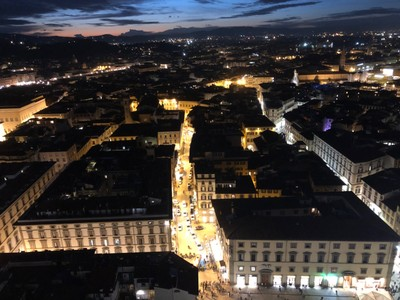Florence at sunset from the Duomo Campanile