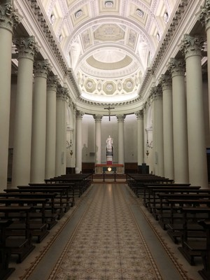 The nave of the Basilica of San Marino