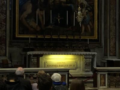 Tomb of Pope John Paul II in St Peter's Basilica