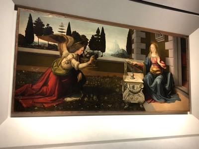 "Leonardo da Vinci, ""Annunciation"", ca. 1472-5"