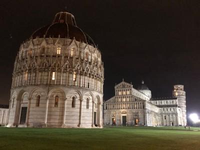 Campo dei Miracoli at night