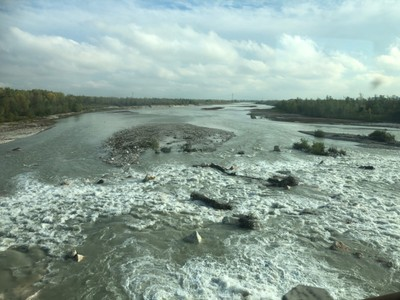 Piave river in northern Italy