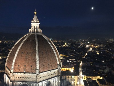 Dome of the Duomo and Florence at night