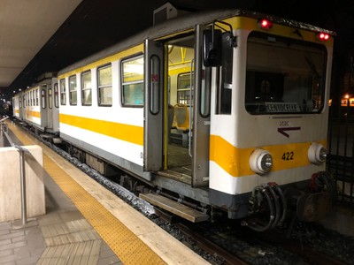 Giardinetti Line train at Centocelle station