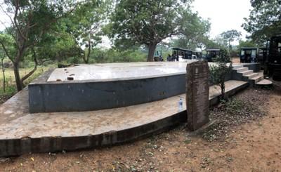 Beach bungalow at Yala National Park destroyed by tsunami