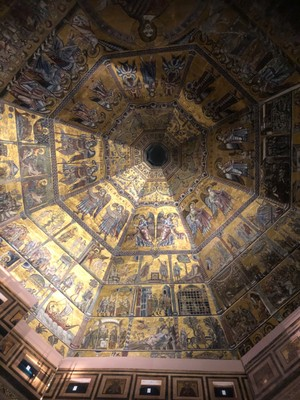 The dome of the Baptistry of the Florence Duomo