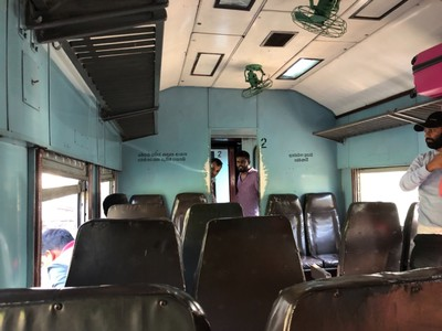 Second class car on the Night Mail from Ella to Badulla