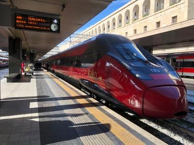High-speed Italo train at Roma Termini station