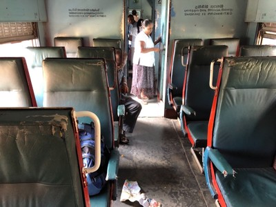 Second class carriage from Galle to Matara