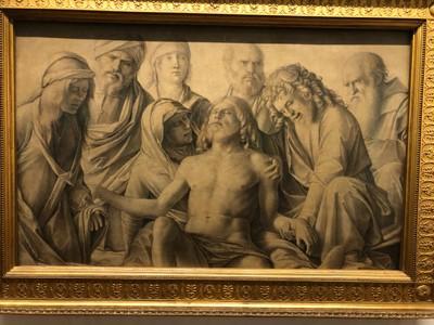 """Giovanni Bellini, """"Lamentation over the Body of Christ"""", 1500-1506"""