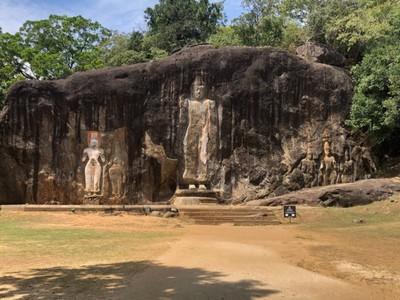 Buddha carving at Buduruwagala