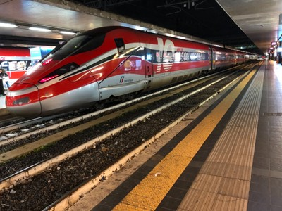 Frecciarossa train at Roma Termini
