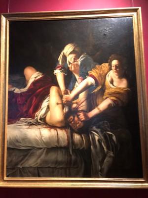 "Artemisia Gentileschi, ""Judith Beheading Holofernes"", ca. 1620-1"