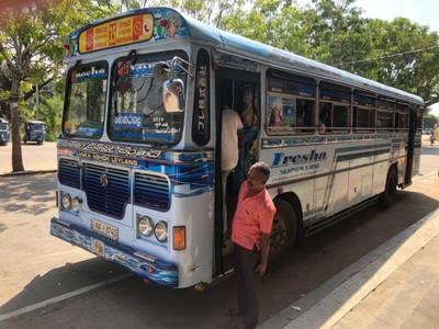 Bus from Thanamalwila to Wellawaya