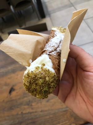 Cannolo at the Mercato Centrale in Florence